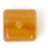 Glass Pressed Beads 8X10mm Cubes Butter Yellow